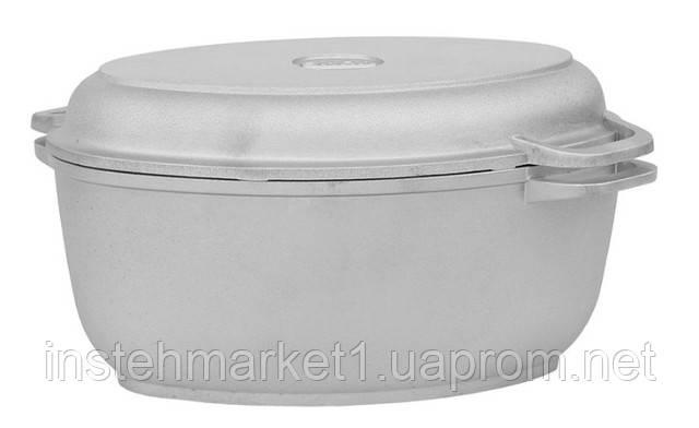 Гусятница БИОЛ Г601 (6 л) с утолщенным дном и крышкой-грилем в интернет-магазине