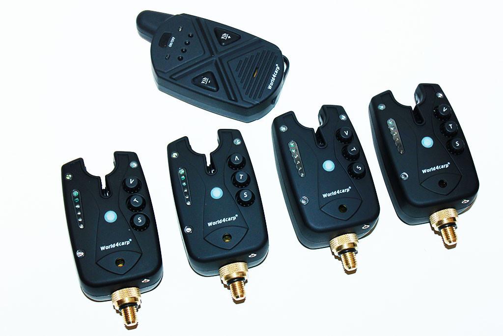 Набор сигнализаторов поклевки  FA211-4 с пейджером (функция АНТИВОР)