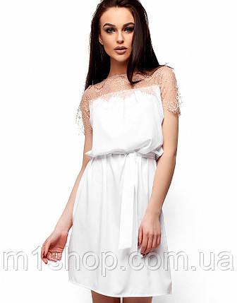 21ea8df9c361b68 Женское летнее платье с гипюром на груди (Атлантика kr) купить ...