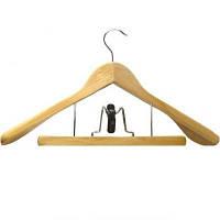 Вішалка дерев'яна для костюмів з прищіпкою для брюк 46см. Helfer 50-31-005