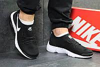 Мужские кроссовки Nike Air Max  найк черные- Текстильная сетка,подошва пена размеры:41-45 Вьетнам  , фото 1