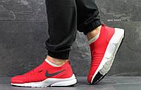 Мужские кроссовки Nike Air Max  найк красные- Текстильная сетка,подошва пена размеры:41-45 Вьетнам  , фото 1