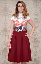 Женская юбка клеш-бордо (  44  )