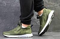 Мужские кроссовки  Reebok Pump   SUPREME темно-зеленые- Сетка,подошва пена, Размеры: 41-45 Китай, фото 1