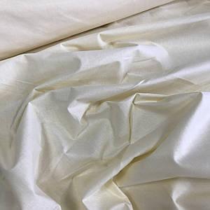 Хлопковая бязь однотонная кремовая шир 1,6м (плот. 135 г/м.кв)