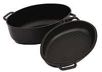 Гусятница БИОЛ Г401П (4 л) с крышкой-сковородой с ровным или рифленым дном