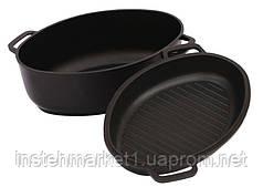 Гусятница БИОЛ Г301П (2.5 л) с крышкой-сковородой с ровным или рифленым дном