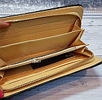 Чорний стьобаний гаманець, фото 3