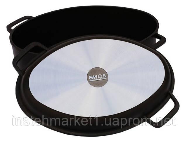 Гусятница БИОЛ Г601П (6 л) с крышкой-сковородой с ровным или рифленым дном в интернет-магазине
