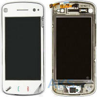 Сенсор (тачскрин) Nokia N97 with frame Original White