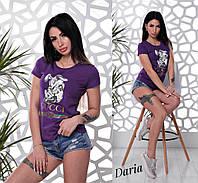 Женская летняя футболка  с рисунком 55FU119, фото 1