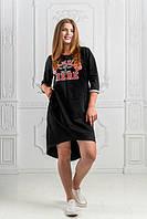 Платье женское короткое прямое асимметричное P9740, фото 1