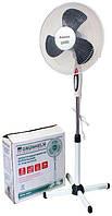 Вентилятор напольный с подсветкой Grunhelm GFS-1621,40W. Высота 1.3м