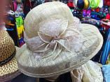 Жіноча капелюх для літа з натуральної соломки, фото 2