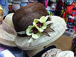 Женская шляпа  на лето из натуральной соломки синамей, фото 2