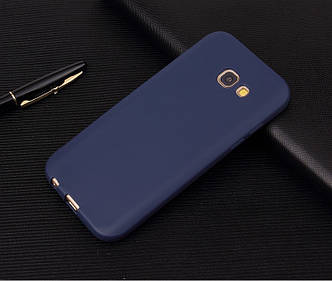 Чехол Style для Samsung Galaxy A5 2017 / A520 Бампер силиконовый синий