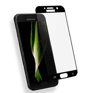 Защитное стекло AVG для Samsung A3 2017 / A320 полноэкранное черное