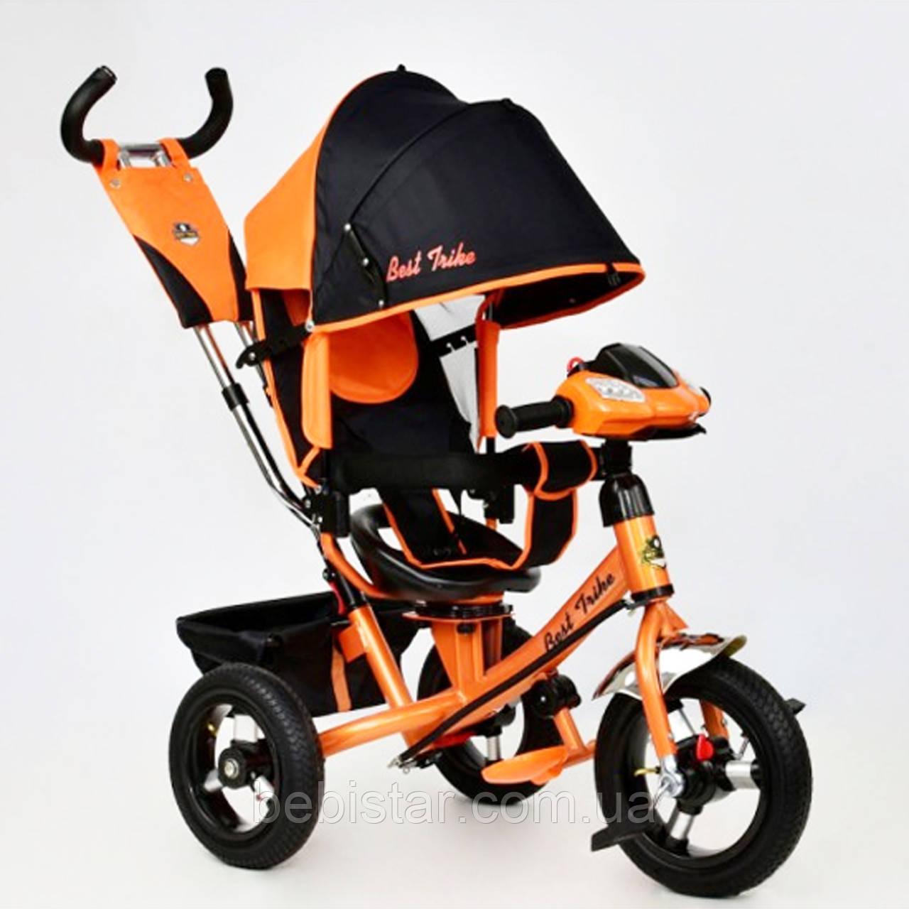 """Детский трехколесный велосипед """"Best Trike7700В"""" с музыкальной панелью и фарой, цвет: оранжевый"""