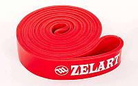 Резинка для подтягиваний (лента сопротивлен)  красный POWER BANDS (р-р 2080x28x4,5мм,мощS)