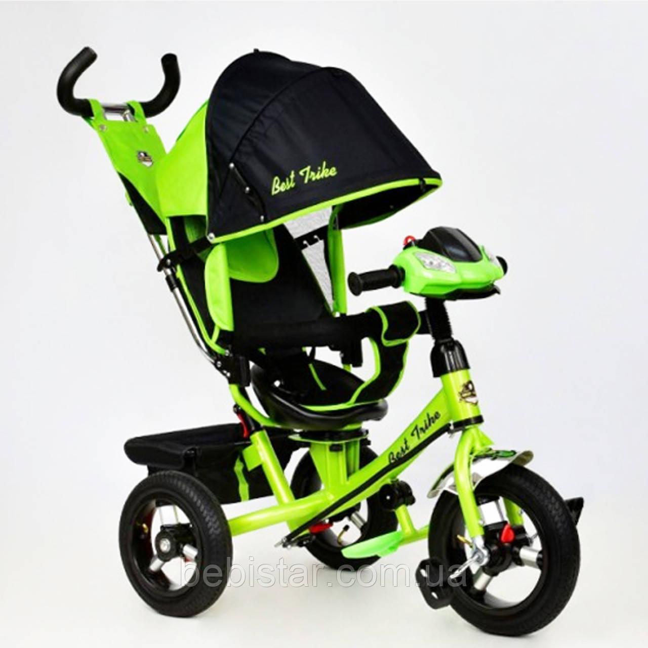"""Детский трехколесный велосипед """"Best TrikeВ7700"""" с музыкальной панелью и фарой, цвет: салатовый"""