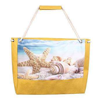 Сумка пляжная Морская звезда желтая