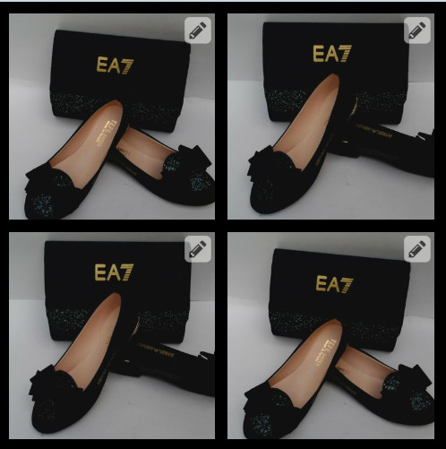 Набор обувь и сумка Emporio Armani Турция 38,39,40 чёрный, темно-синий, розовый, красный Супер цена