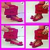Набор обувь и сумка Emporio Armani Турция 38,39,40 чёрный, темно-синий, розовый, красный Супер цена , фото 4