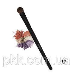 Кисть для макияжа для теней Parisa Cosmetics узкая натуральная Р-12