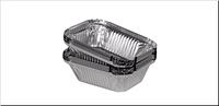 Пищевая алюминиевая ЭКО емкость  из  фольги (SP24L), 430мл, 100шт/уп