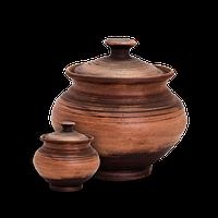 """Горшок для запекания керамический с крышкой """"Етно"""" 250 мл Покутская керамика EC0123"""