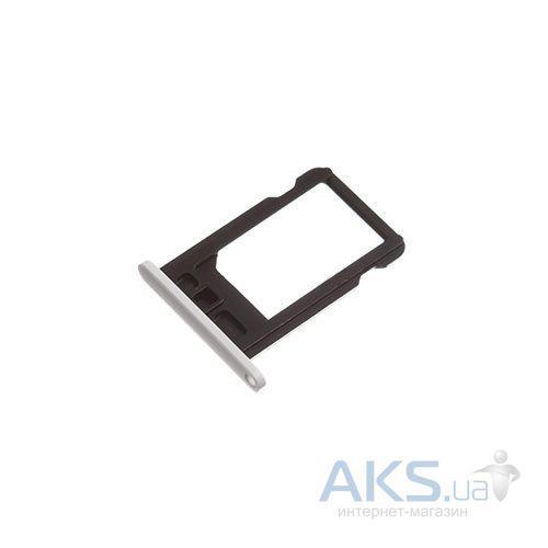 Держатель (лоток) SIM-карты Apple iPhone 5C White