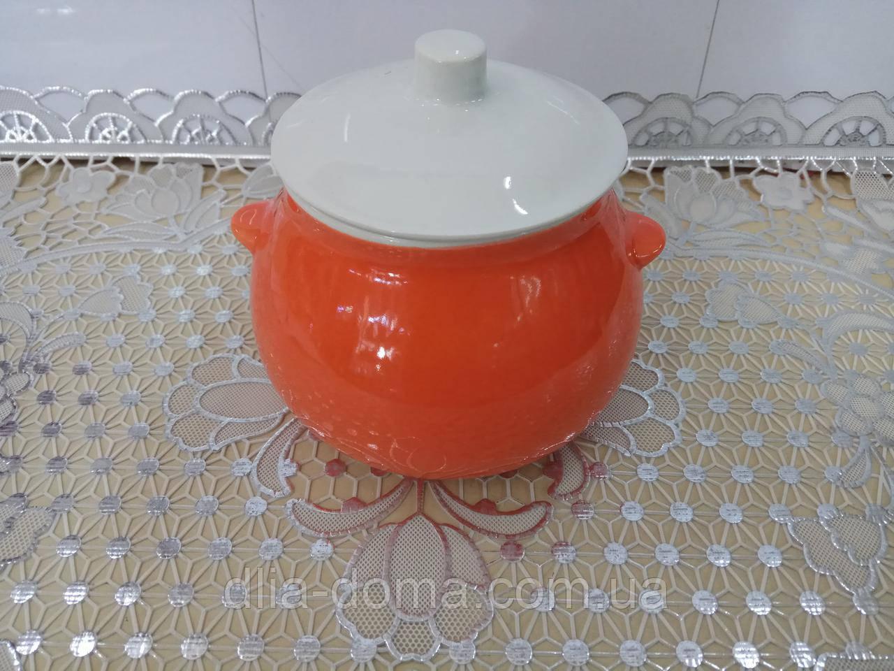 Горщик д/жаркого 0,6 помаранчевий