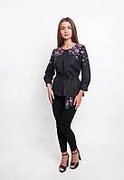 Черная вышиванка женская стильная, фото 1