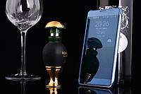 Чехол Книжка для Samsung Galaxy A7 2015 A700 зеркальный Mirror Dark Blue