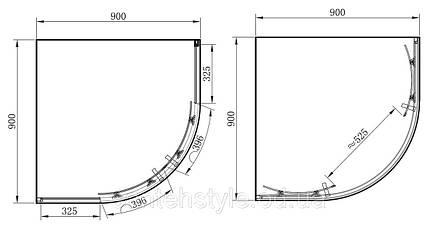 Полукруглая душевая кабина Primera FRAME SHQC51906 900х900х1900, фото 2