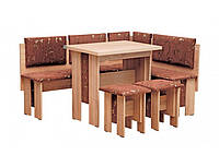 Кухонный уголок «Аристократ»  с раскладным столоми двумя табуретами(обивка: ткань)