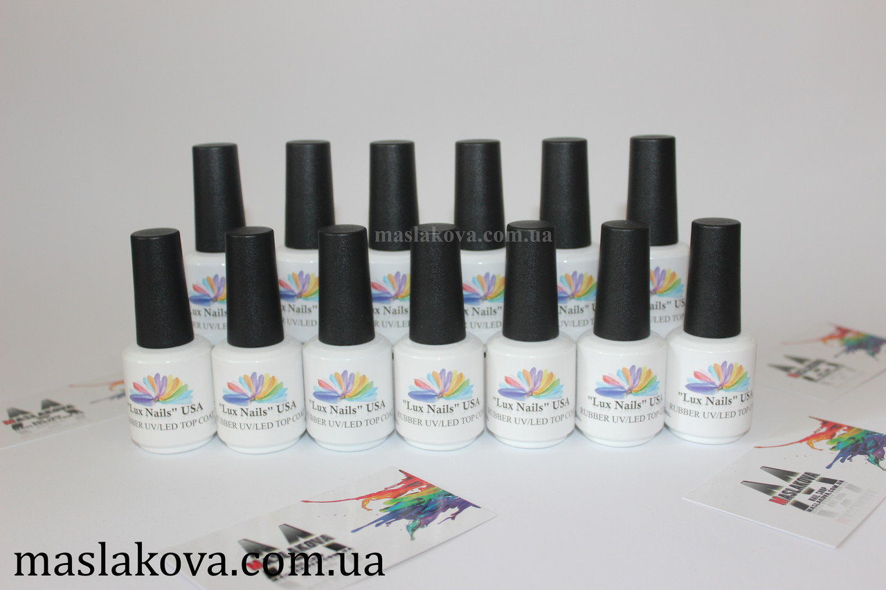 """Rubber UV/LED Top """"NAILS LUXURY"""" ."""