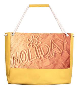 Сумка для пляжа Holiday желтая