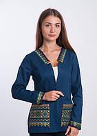 Пиджак вышитый стильный, фото 1