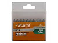 Набір біт S2 намагнічених Sturm, PH2 x 50 mm, 10шт 1270202
