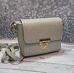 Серая женская сумка через плечо, фото 3
