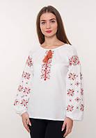 Блузка вышитая с длинным рукавом