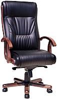 Кресло Chester Extra Неаполь D-5 (1.031 лесной орех) черный.