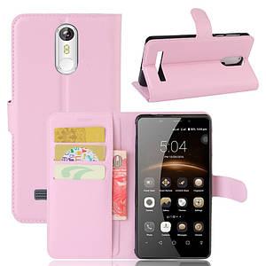 Чехол для Leagoo M8 / M8 Pro книжка кожа PU розовый