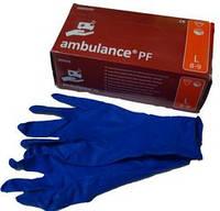 Перчатки медицинские синие-прочные S,M,L,XL (50 шт/уп., 10 уп/ящ)
