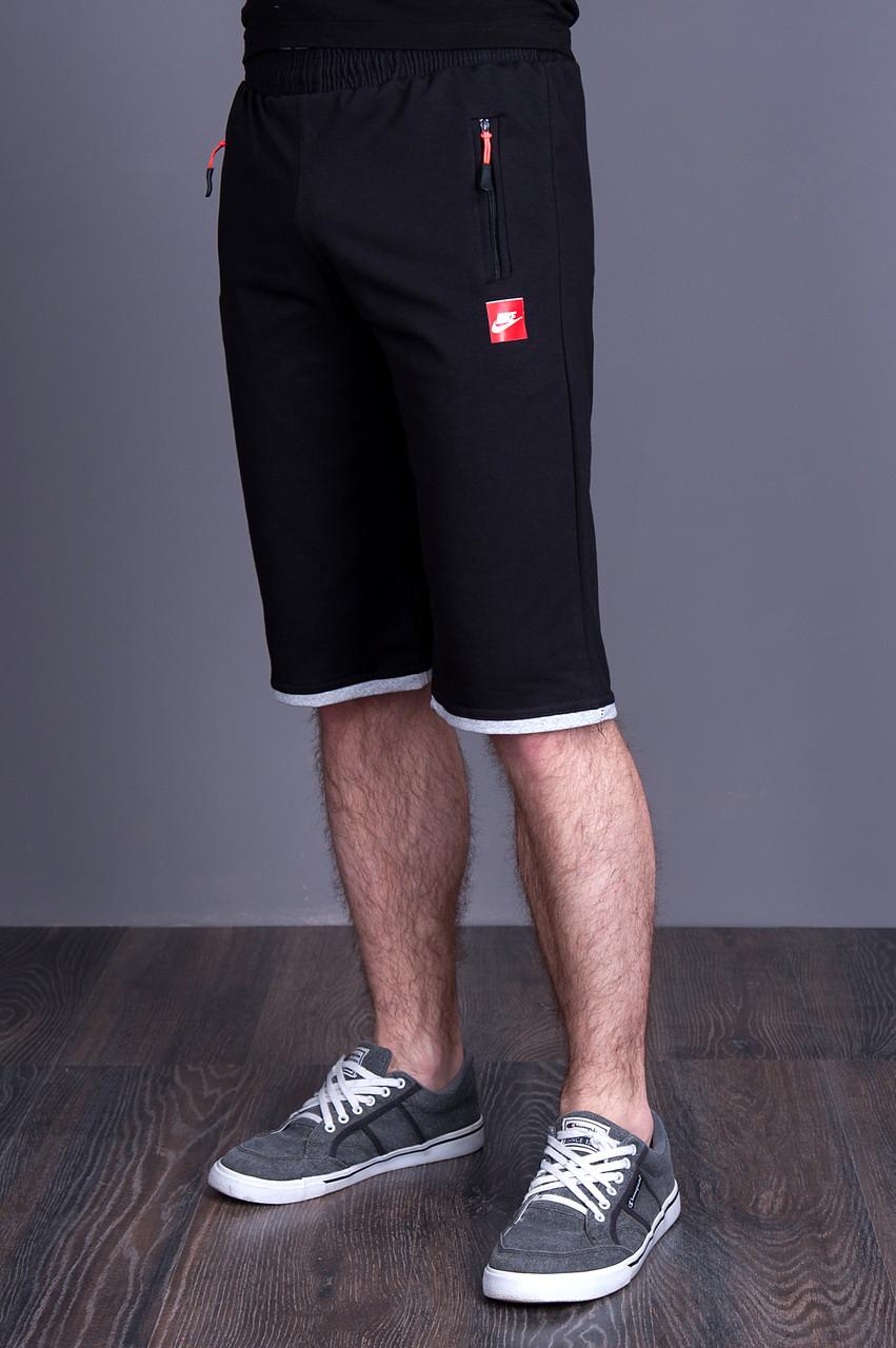 Чоловічі трикотажні шорти NIKE темно-синього кольору