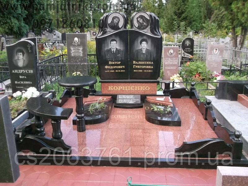 Гранитные мемориальные комплексы пластмассовая ваза для цветов на кладбище