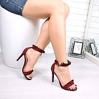 Босоножки женские Balini бордо 4774, сандалии женские