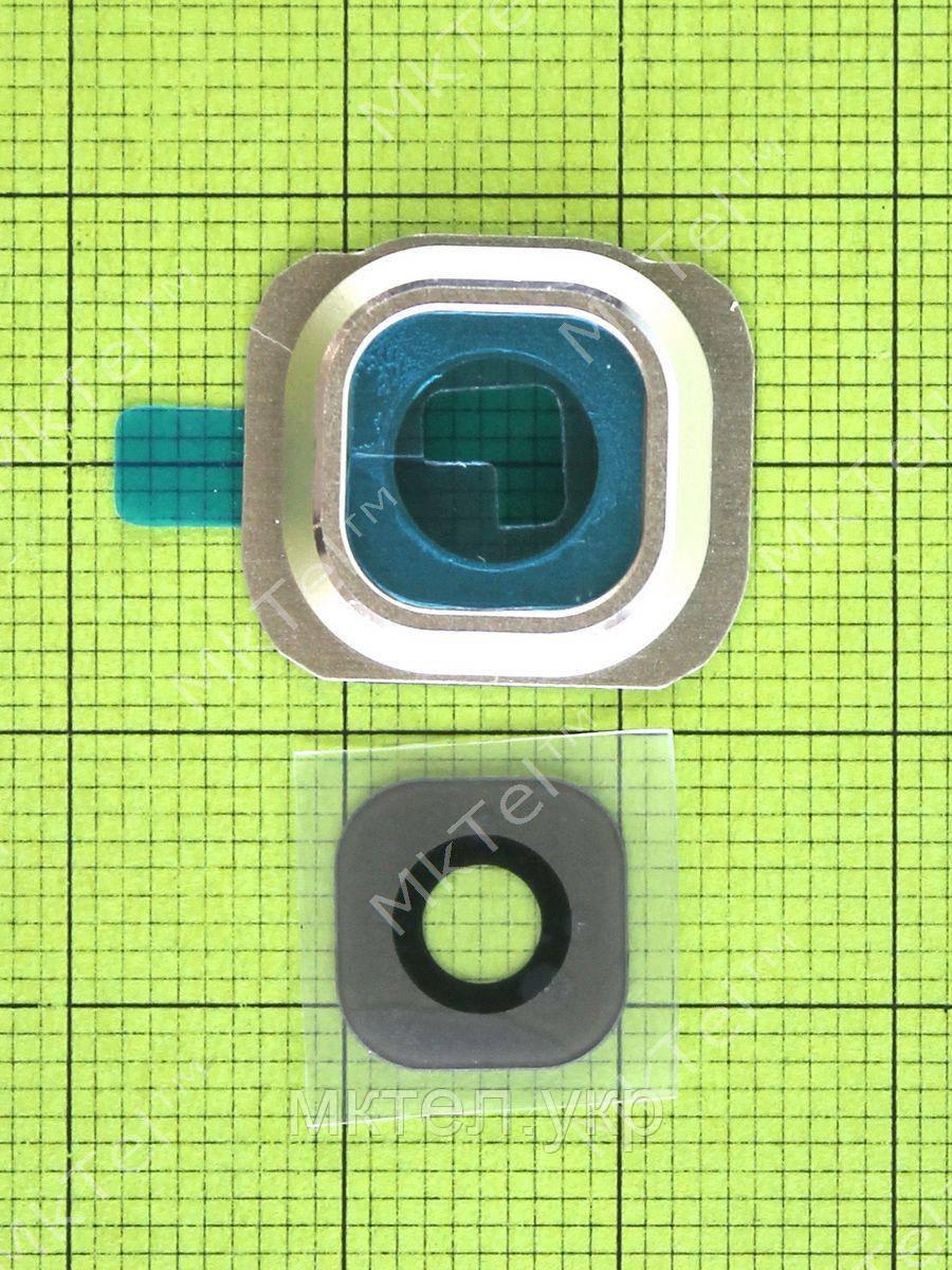 Стекло камеры Samsung Galaxy S6 G920 з рамою, золотистый orig-china