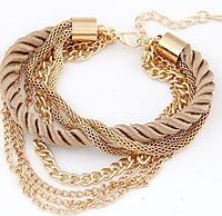 Модный браслет женский бежевый код 1400